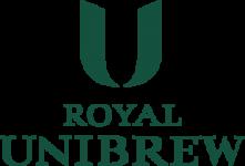 Royal Unibrew logo med grøn skrift